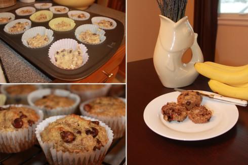 banana choch muffins