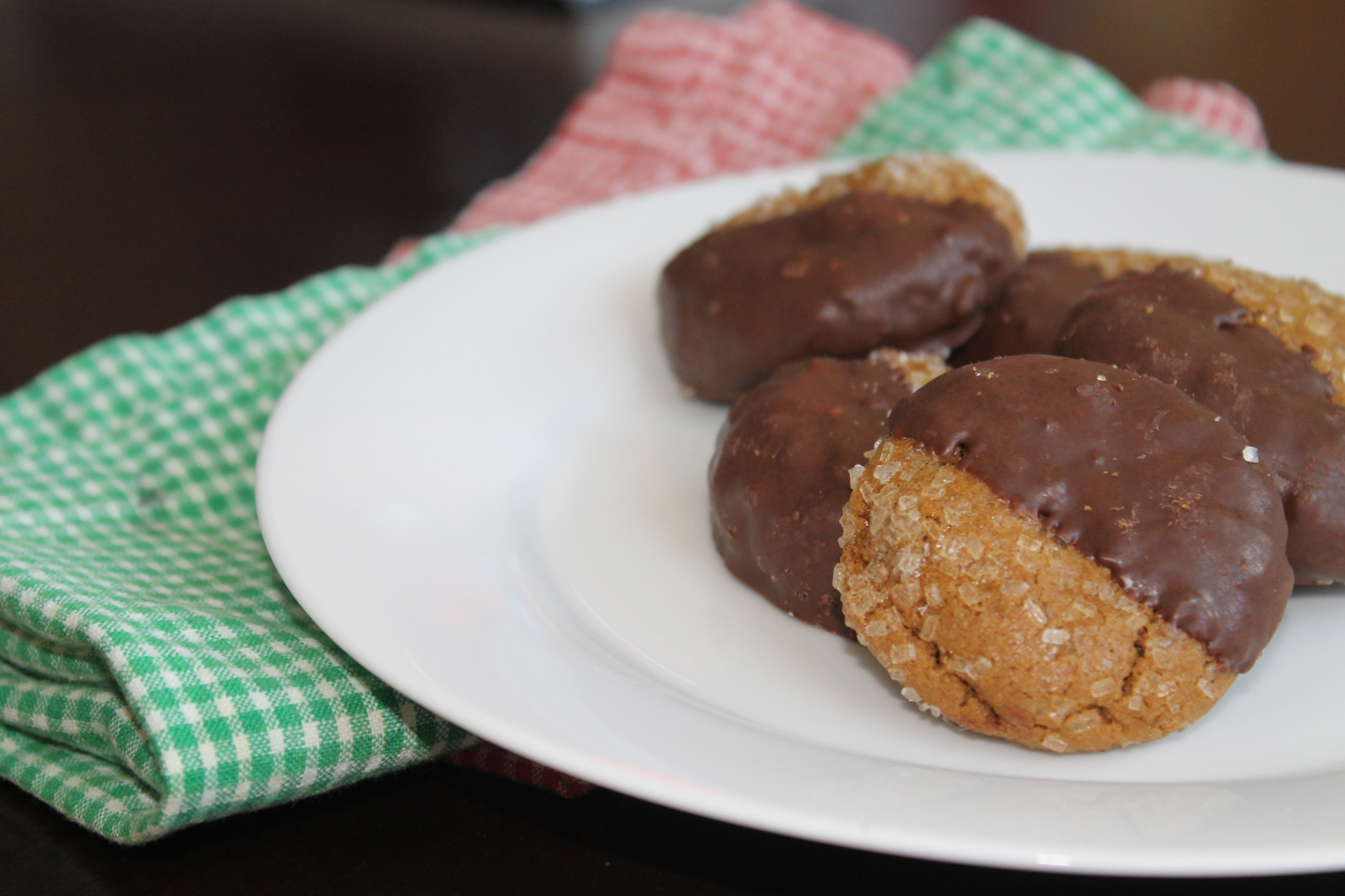 Double Ginger Cookies 2. Chocolate Dipped .....